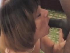 Sexy whore takes black cock