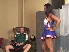 Beauty Eyes - Swarthy Cheerleader Creampie