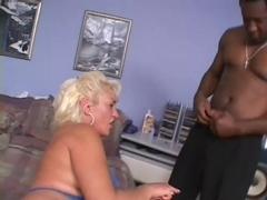 Hot Granny Dana Takes Big Black Whopper