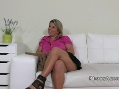 Fat amateur with huge boobs fucking on casting
