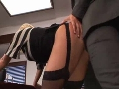 Sexy Breasty Secretary Hard Screwed by Boss
