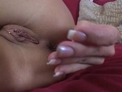 Large mangos golden-haired acquires horny & masturbates