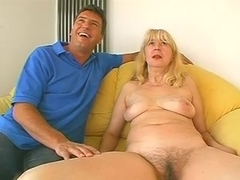 Plump and mature blonde