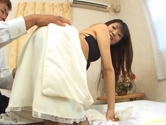 Kinky babe Saya Nursakawa takes a fat cock and gets creampied.