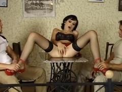 lengthy legs bending over for anal