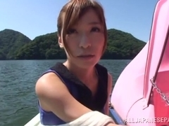 Kaho Kasumi enjoys outdoor sex with her guy