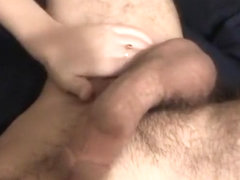 Stiff dick for her hands