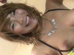 Akiho Nishimura gets nasty on a big cock