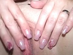 Granny enjoys a huge sex toy