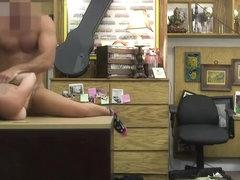 A broke brunette rocker gives a fuck for extra cash
