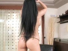 Aletta Ocean hot babe rubbing her busty boobs