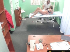 Amateur patient fucked by european doctor