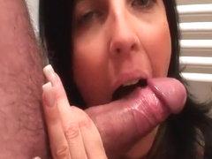 White dick for her throat