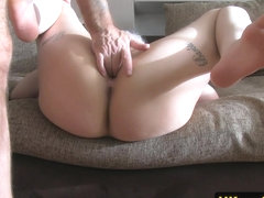 Clitpierced casting babe fucked doggystyle