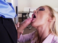 Devon is ready to please her boss Erik Everhard right at work