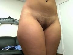 Hot ass brunette latina Nita enjoys in stripping and teasing