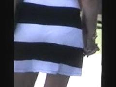 sexy milf see thru dress,, white panty vpl