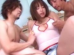 Fabulous Japanese whore Miyu Hasegawa in Hottest Threesomes JAV video