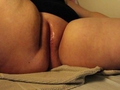 Giant fake penis and orgasms