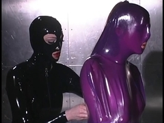 Purple latex yielding whipped on table