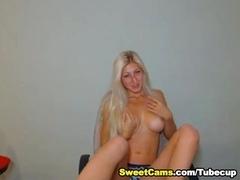 Cute Busty Blonde Teen Striptease