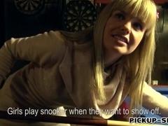 Cutie amateur Czech girl Mikayla nailed in billiards alley
