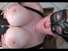 Breasty mother I'd like to fuck screwed by machine and cummed on