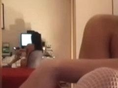 girl gets naked infront of webcam