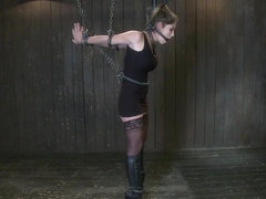Felony Bound in Cruel Latex Metal and Leather Bondage