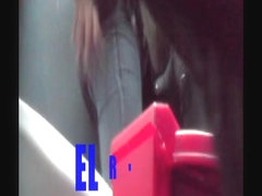 Girl in a hover-pissing action in this spy cam bathroom video