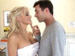 James Deen gets sucked by busty babe Tia McKenzie