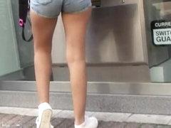Teenage ass in denim shorts 2