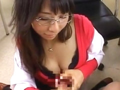 Exotic Japanese girl Yuka Osawa in Incredible Handjobs JAV video