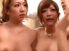 Exotic Japanese chick Saki Hatsumi, Yu Anzu in Amazing Public, Group Sex JAV movie