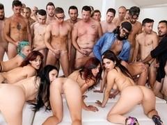 Nataly Gold, Vesna, Valentina Nappi, Mary Rider in Rocco's Italian Porn Boot Camp, Scene #04