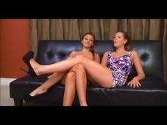 lesbian couple use maid for worship feet
