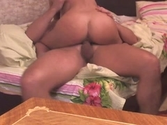 Homemade sex scene of a really horny Russian couple