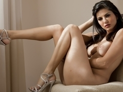 Sunny Leone in Sexy White Lingerie Video