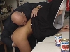 Nun and obscene old boyfrend - soft