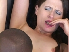 Pleasing Lena can't live without darksome strapon