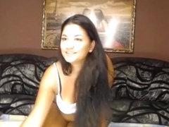 Brunette IronTits posing on webcam
