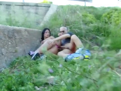 Beautiful gets her ass fucked in a public place
