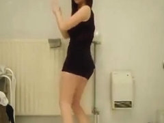 Mad twerk web camera dance video