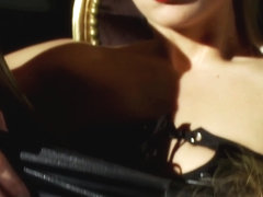 Euro lezzies lick pussy and analplay with toy