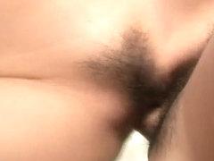 Rei Serizawa swallows after a harsh porn show