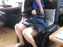 old leatherwoman Gabriele u. Biggi give a hard blowjob