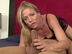 Horny pornstar Violet Vamp in fabulous deep throat, blonde adult scene