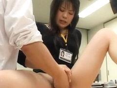 Crazy Japanese whore Aya Sakuraba, Misaki Asoh, Mika Nakajou in Horny Secretary, Fingering JAV sce.