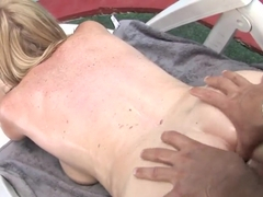 Mature busty cougar Monik get nailed outdoor