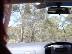 Girls Out West - Lesbian Aussie hitchhiker licked